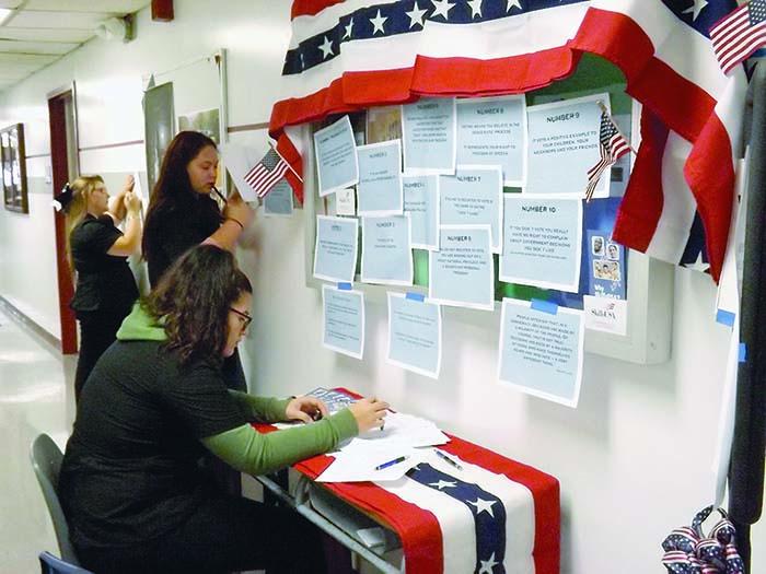 Voter registration in Hudson Falls, N.Y. Photo: Jeffrey Plummer, Southern Adirondack