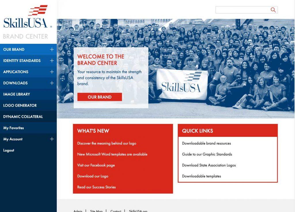 Brand-Center screenshot